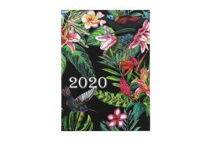 /Ежедневник дат. 2020 FANCY, A5, 336 стр., черный
