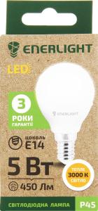Лампа светодиодная Enerlight P45 5Вт 3000K E14