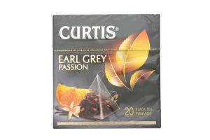 Чай чорний з ароматом апельсина і ванілі Earl Grey Passion Curtis к/у 20х1.7г
