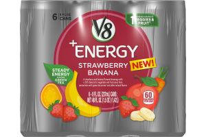 V8 +Energy® Strawberry Banana, 8 oz., 6 pack