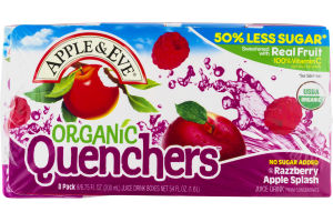 Apple & Eve Organic Quenchers Razzberry Apple Splash - 8 PK