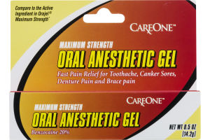 CareOne Oral Anesthetic Gel Maximum Strength