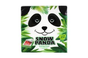 Салфетки столовые 24х24см Сніжна панда 100шт