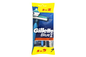 GILLETTE BLUEII Plus Бритви одноразовi 7шт ПрепакКор