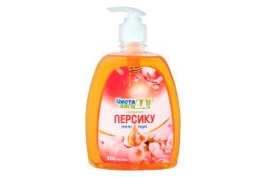 Мило рідке з ароматом персика дозатор Чиста ВигоДА! 500мл