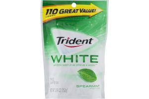 Trident White Sugar Free Gum Spearmint - 110 CT