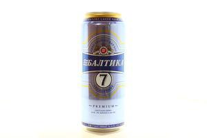 Пиво 0,5л 5,4% №7 экспортное светлое Балтика ж/б