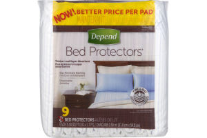 Depend Bed Protectors - 9 CT