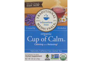 Traditional Medicinals Relaxation Teas Organic Cup Of Calm Tea Bags - 16 CT