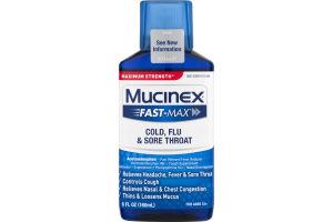 Mucinex Fast-Max Cold, Flu & Sore Throat Liquid