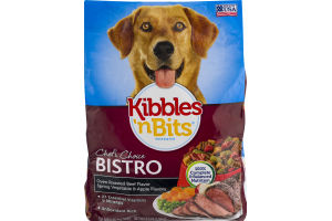 Kibbles 'n Bits Dog Food Chef's Choice Bistro Oven Roasted Beef Spring Vegetable & Apple