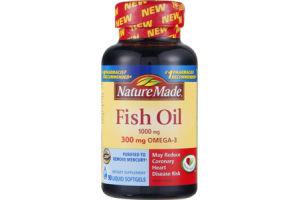 Nature Made Fish Oil Liquid Softgels 1000mg - 90 CT