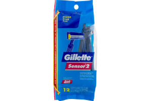 Gillette Sensor 2 Disposable Razors - 12 CT