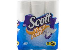 Scott Tube Free Unscented Bathroom Tissue - 12 CT