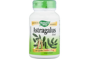 Nature's Way Astragalus Root 470mg Capsules - 100 CT