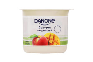 Йогурт 2% натуральный Манго-персик Danone ст 135г