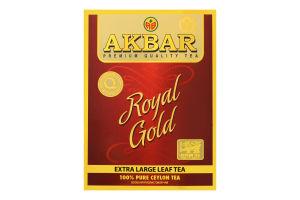 Чай черный крупнолистовой Royal Gold Akbar к/у 80г