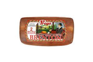 Сир 45% твердий копчений Brenton Prego кг