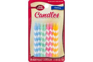 Betty Crocker Birthday Candles Chevron - 16 CT