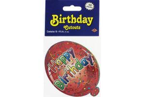 Beistle Birthday Cutouts - 10 CT