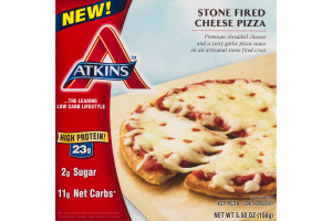 Atkins Stone Fired Cheese Pizza