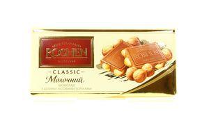 Шоколад Roshen Classic мол. з ціл. лісов. горіхами 100г