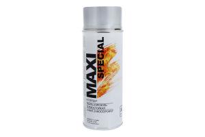 Эмаль-аэрозоль термостойкая серебристая Maxi Color 400мл