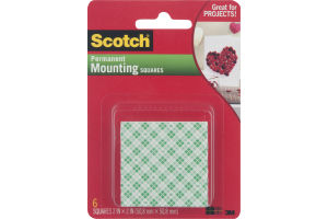 Scotch Permanent Mounting Squares - 6 CT