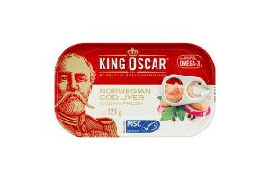 Печень трески King Oscar консервированная стерилиз