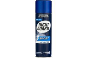 Right Guard Sport Aerosol Antiperspirant Unscented