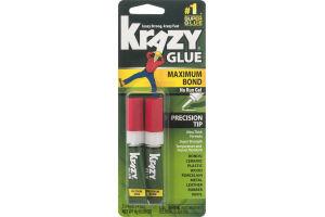 Krazy Glue Maximum Bond No Run Gel with Precision Tip - 2 CT