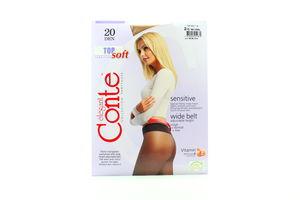 Колготы женские Conte Sensitive Top 20den 2-S natural