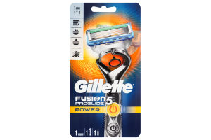 Станок для бритья мужской Power Fusion ProGlide Gillette 1шт