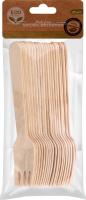 Набор вилок одноразовых деревянных 20шт