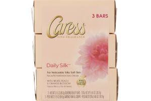 Caress Fine Fragrance Daily Silk Silkening Beauty Bars - 3 CT