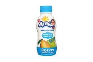 Йогурт Яблоко-груша с 8 месяцев 2,7% Агуша п/б 200г