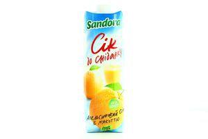 Сок апельсиновый с мякотью К завтраку Sandora т/п 0.95л