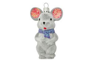 Прикраса новорічна 8см Мишка Бажан І.В. 1шт