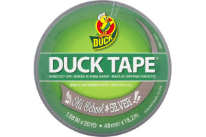 Duck Tape Old School Silver
