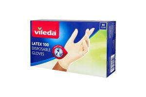 Рукавички латексні розмір M Multi Vileda 100шт
