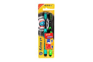 Н-р зубных щеток средней жесткости 2шт YI-01