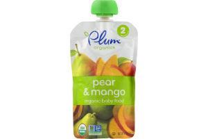 Plum Organics Organic Baby Food Pear & Mango Stage 2