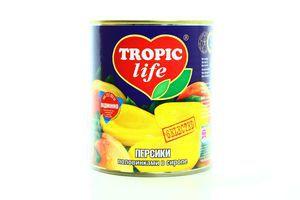 Персик половинками в сиропе Tropic life ж/б 820г
