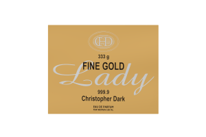 Парфюмированная вода женская Fine Gold Lady Christopher Dark 100мл