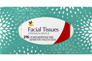 Ahold Facial Tissues White Unscented - 216 CT