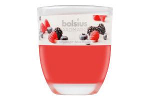Свеча Bolsius Лесные ягоды декор стакан 80/70мм