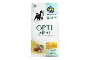 Корм повнораціонний сухий для дорослих собак великих порід - курка Optimeal 1,5 кг
