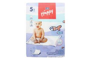 Пелюшки дитячі гігієнічні 60х90см Bella baby happy 5шт