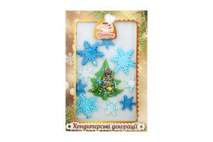 Декорації кондитерські Зимовий набір №3 Добрик к/у 1шт