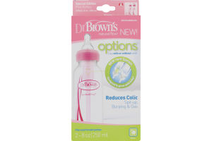Dr. Brown's Natural Flow Options Reduces Colic Pink Bottles - 2 CT